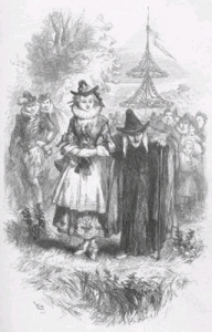 A Victorian depiction of the Pendle witches