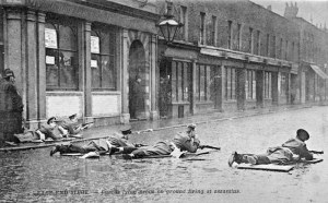 The Sidney Street Siege of 1911, which followed the Houndsditch Murder.