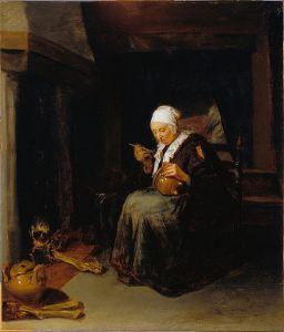 """""""Old Woman Eating"""" by Quiringh Van Brekelenkam (Google Art Project)"""