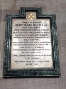 Memorial to Henry Graves Bull, MD, at Hereford Cathedral