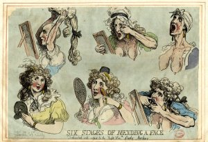 'Six Stages of Mending a Face' (1792) © Trustees of the British Museum