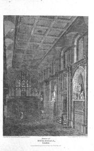 The interior of the Guildhall, 1820