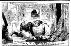 The Illustrated Police News' depiction of the murder (via British Newspaper Archive)